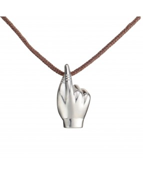 Fingers Crossed Pendant - Silver