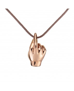 Fingers Crossed Pendant - Pink gold