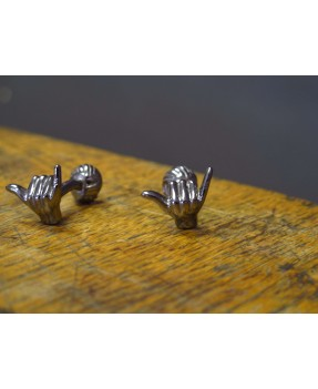Aloha Cufflinks Blackened silver