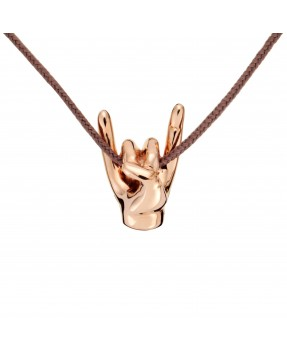Rock Pendant - Pink gold